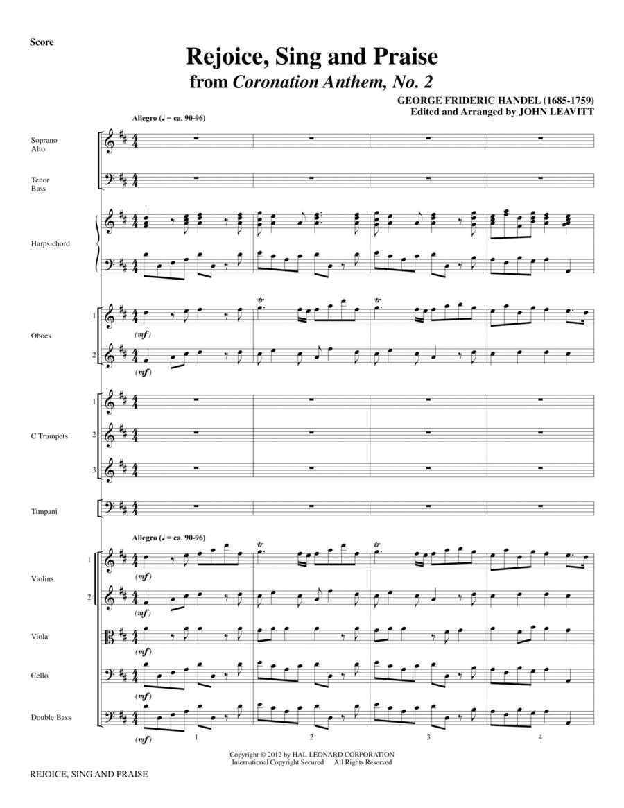 Rejoice, Sing And Praise - Full Score
