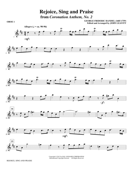 Rejoice, Sing And Praise - Oboe 1