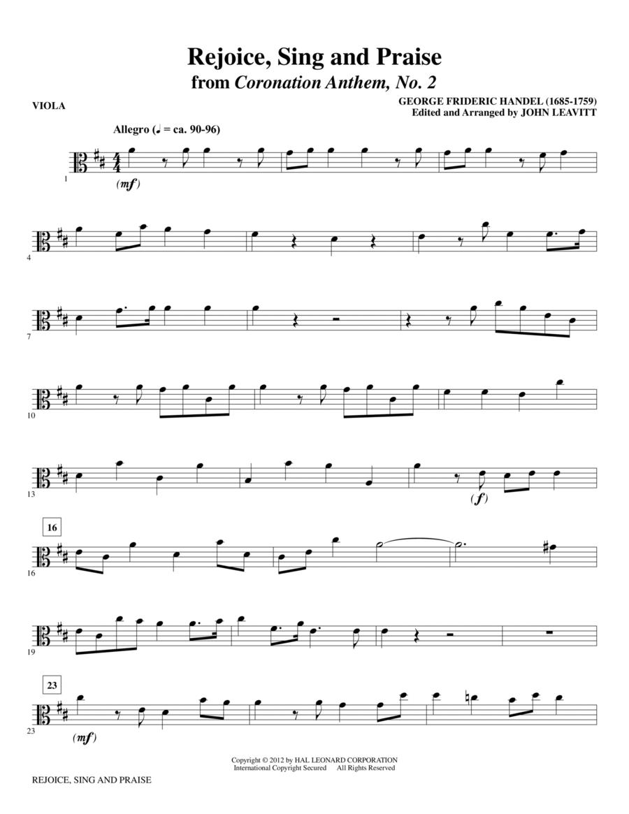 Rejoice, Sing And Praise - Viola
