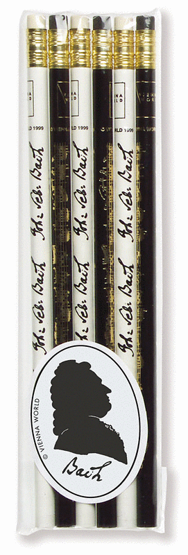 Music pencil set Bach (set of 6)