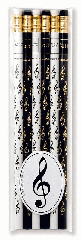 Music pencil set Treble clef (set of 6)