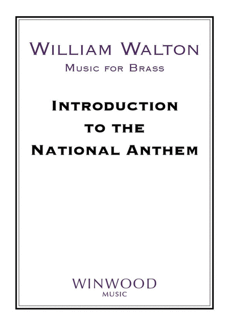 introduction to the national anthem sheet music by william walton sheet music plus. Black Bedroom Furniture Sets. Home Design Ideas