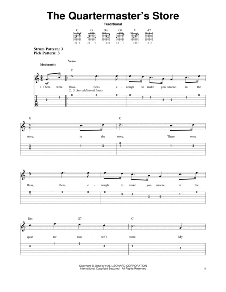 Download The Quartermaster's Store Sheet Music By ...