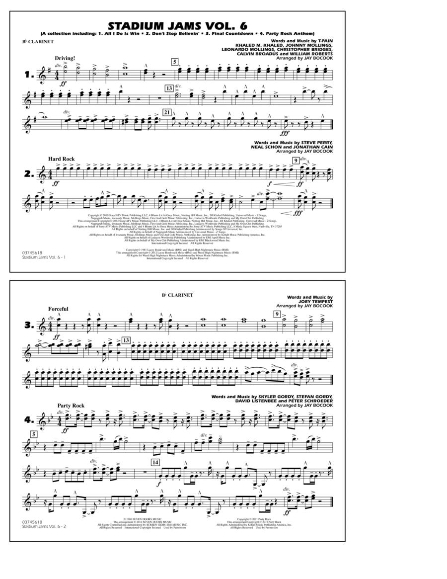 Stadium Jams Vol. 6 (Game Winners) - Bb Clarinet