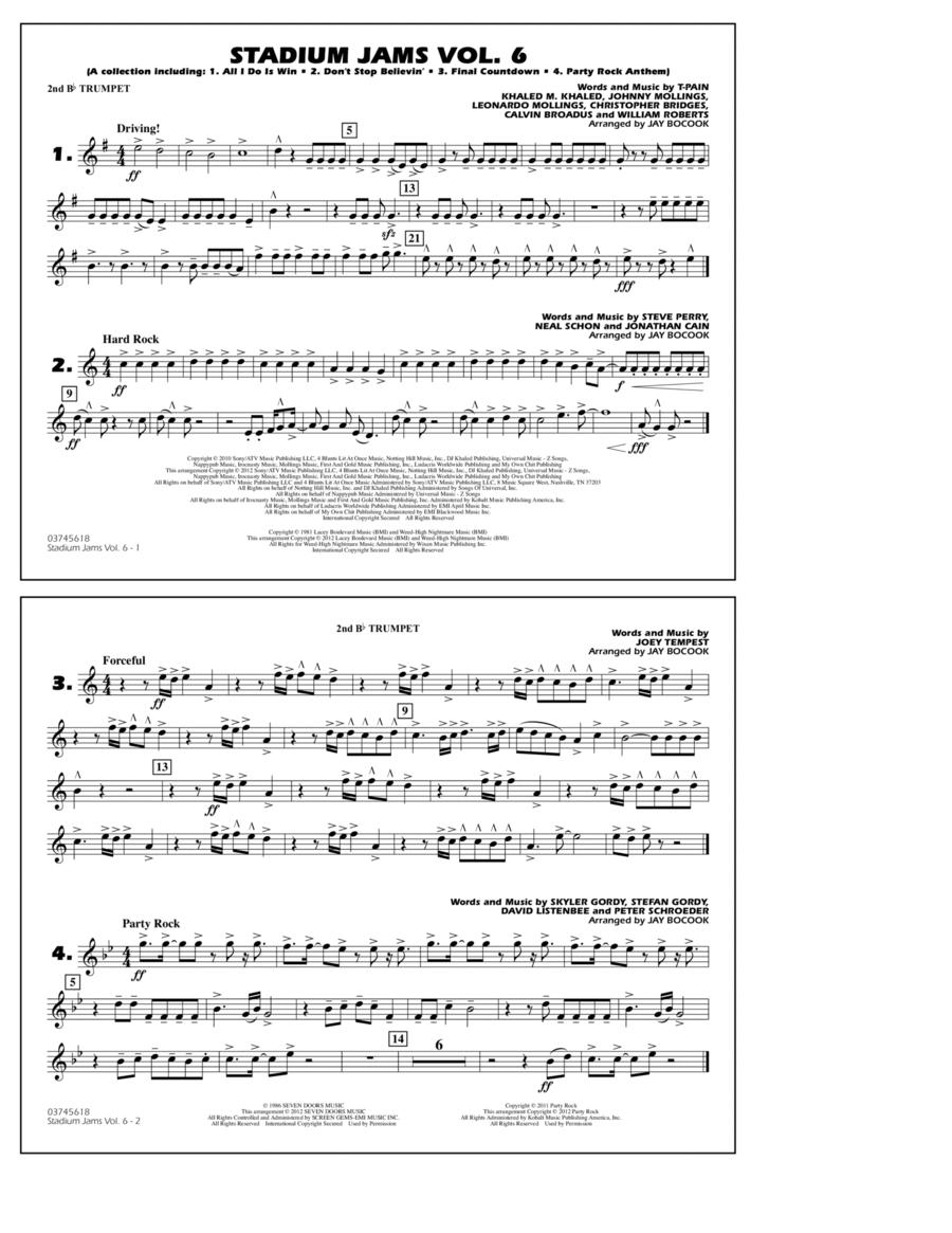 Stadium Jams Vol. 6 (Game Winners) - 2nd Bb Trumpet