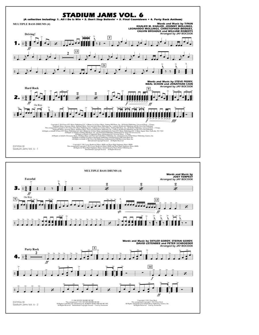 Stadium Jams Vol. 6 (Game Winners) - Multiple Bass Drums