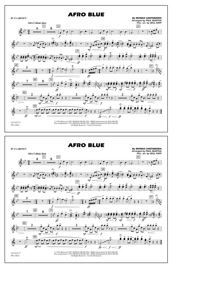Afro Blue - Bb Clarinet