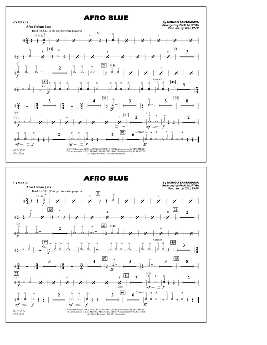 Afro Blue - Cymbals