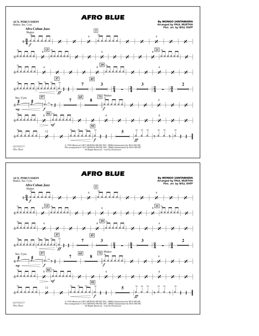 Afro Blue - Aux Percussion