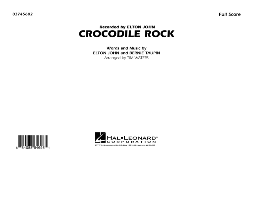 Crocodile Rock - Full Score