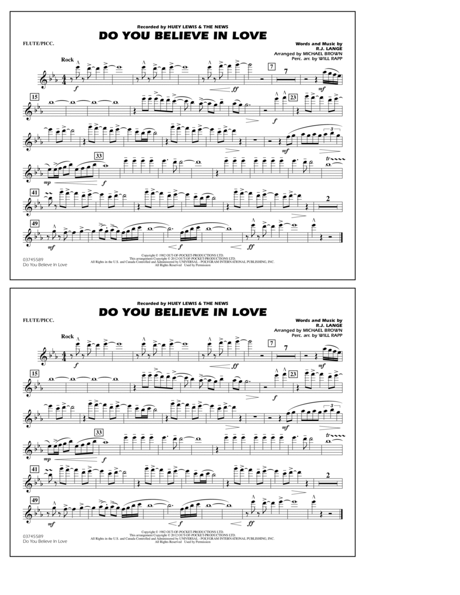 Do You Believe In Love - Flute/Piccolo