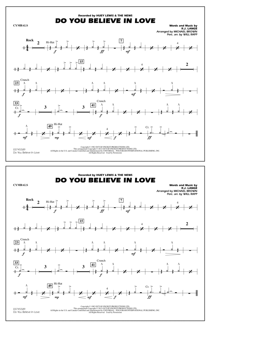 Do You Believe In Love - Cymbals