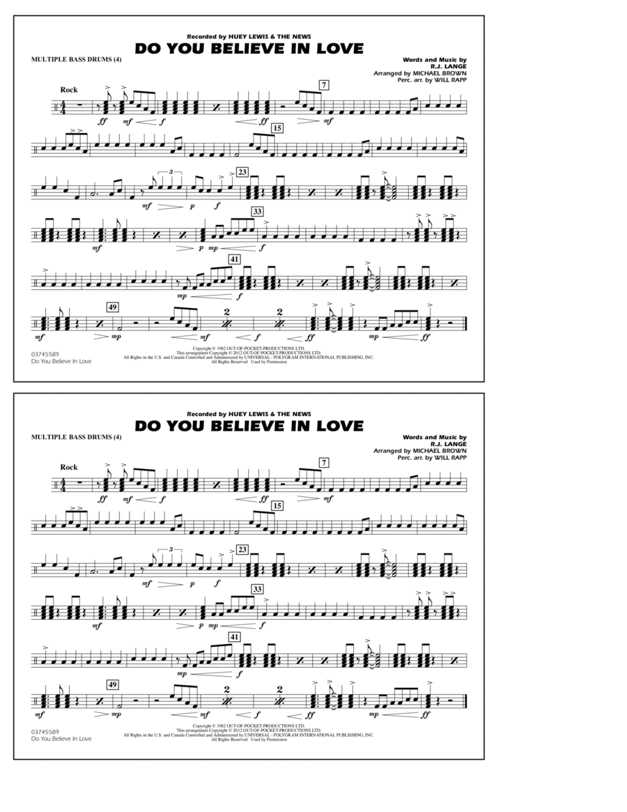 Do You Believe In Love - Multiple Bass Drums