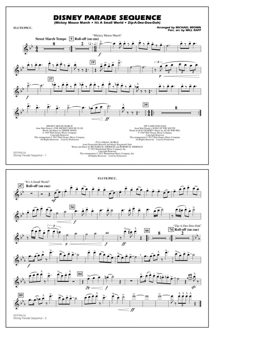 Disney Parade Sequence - Flute/Piccolo
