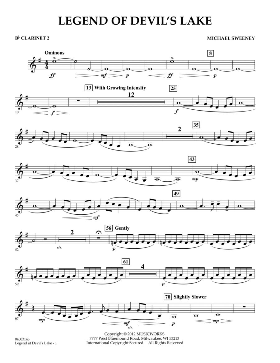 Legend Of Devil's Lake - Bb Clarinet 2