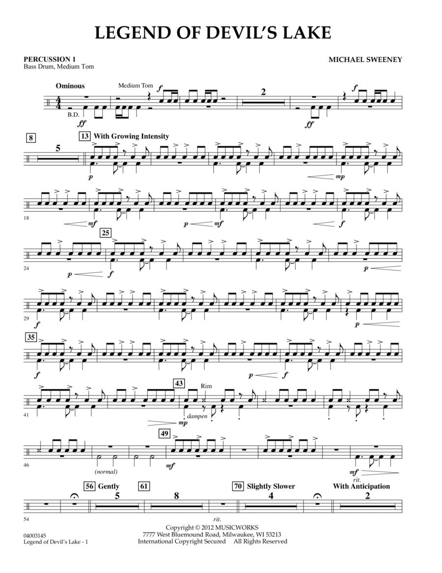 Legend Of Devil's Lake - Percussion 1