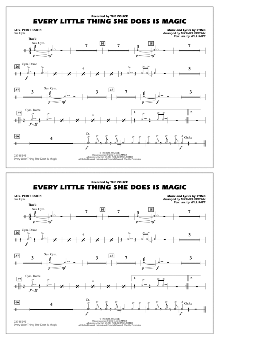 Every Little Thing She Does Is Magic - Aux Percussion