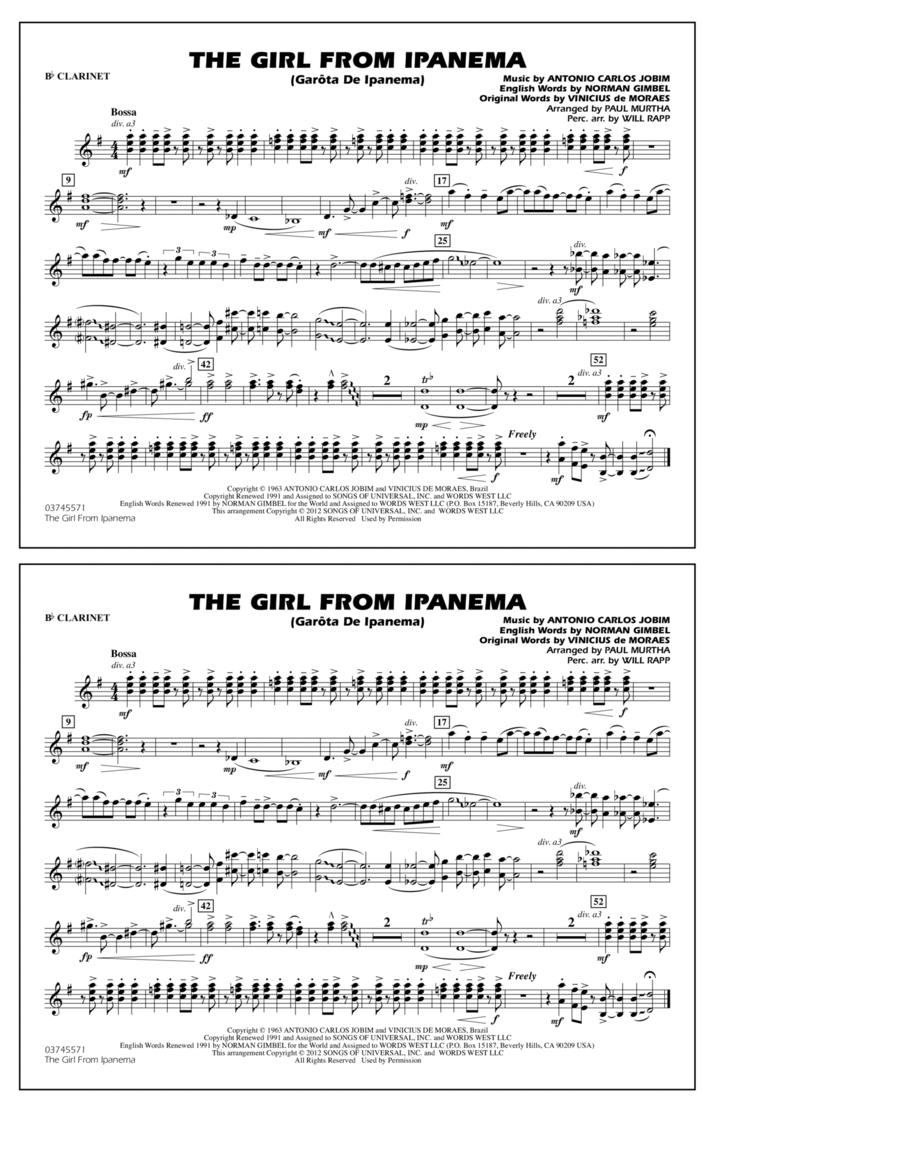 The Girl From Ipanema (Garota De Ipanema) - Bb Clarinet
