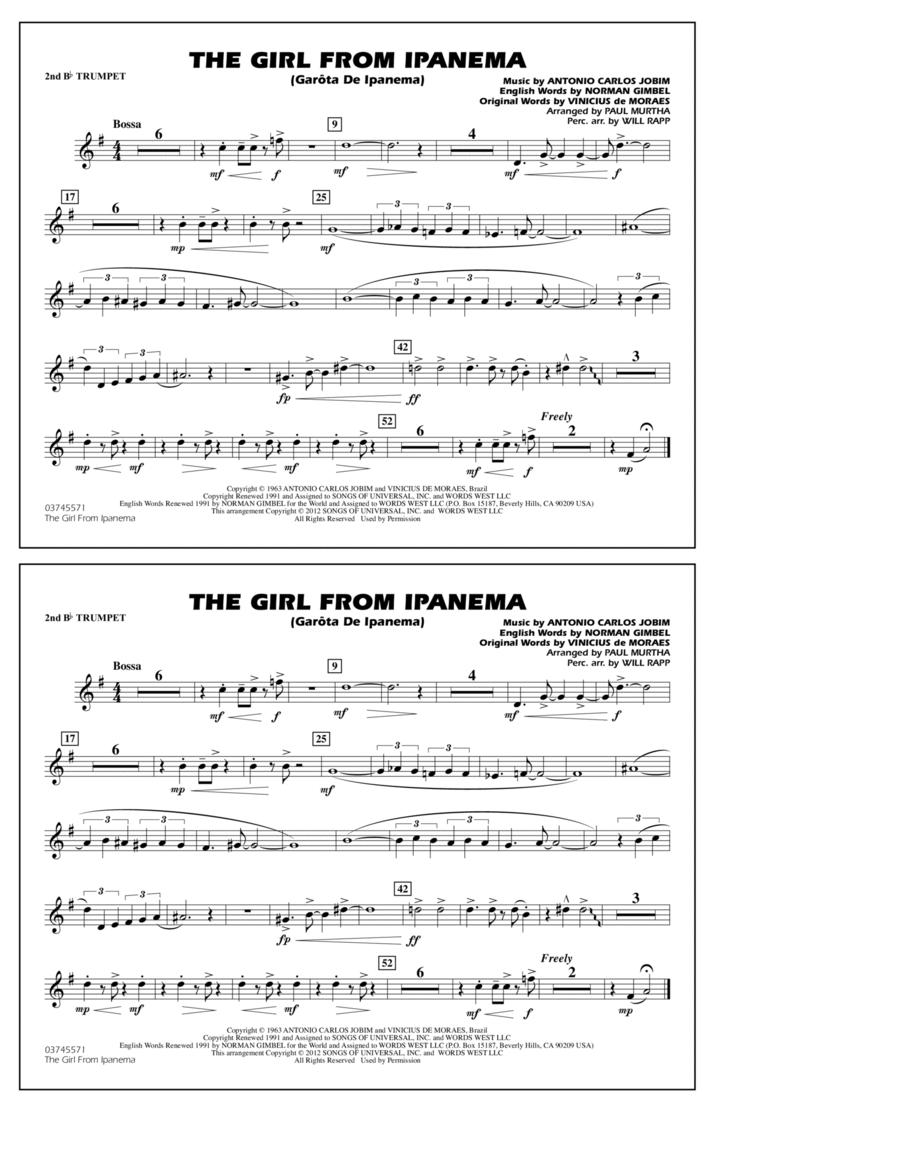 The Girl From Ipanema (Garota De Ipanema) - 2nd Bb Trumpet