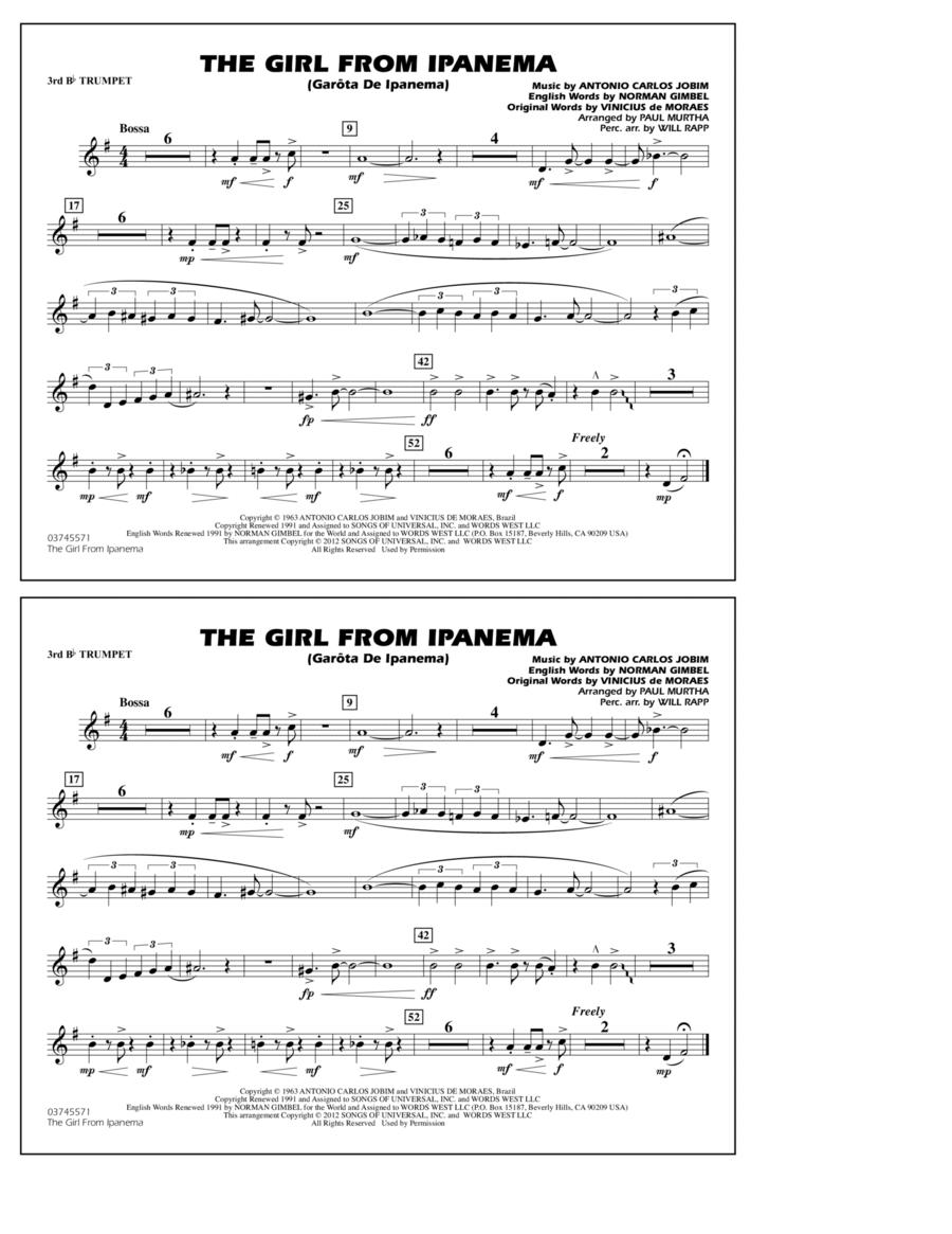 The Girl From Ipanema (Garota De Ipanema) - 3rd Bb Trumpet