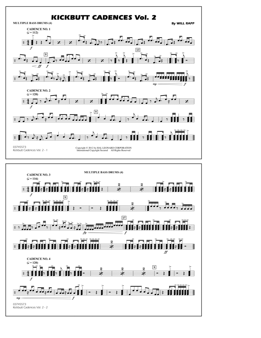 how to read bass drum sheet music