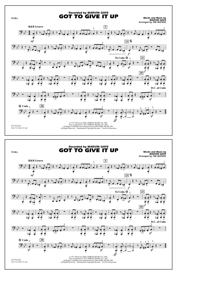 Got To Give It Up - Tuba