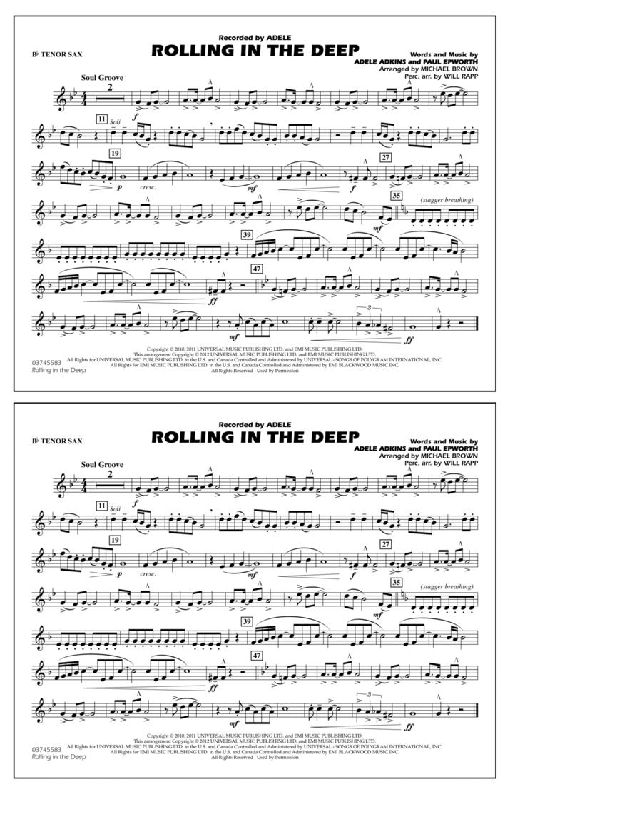 Rolling In The Deep - Bb Tenor Sax