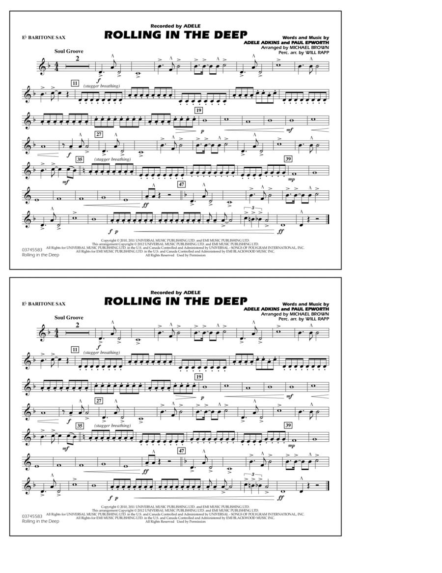 Rolling In The Deep - Eb Baritone Sax
