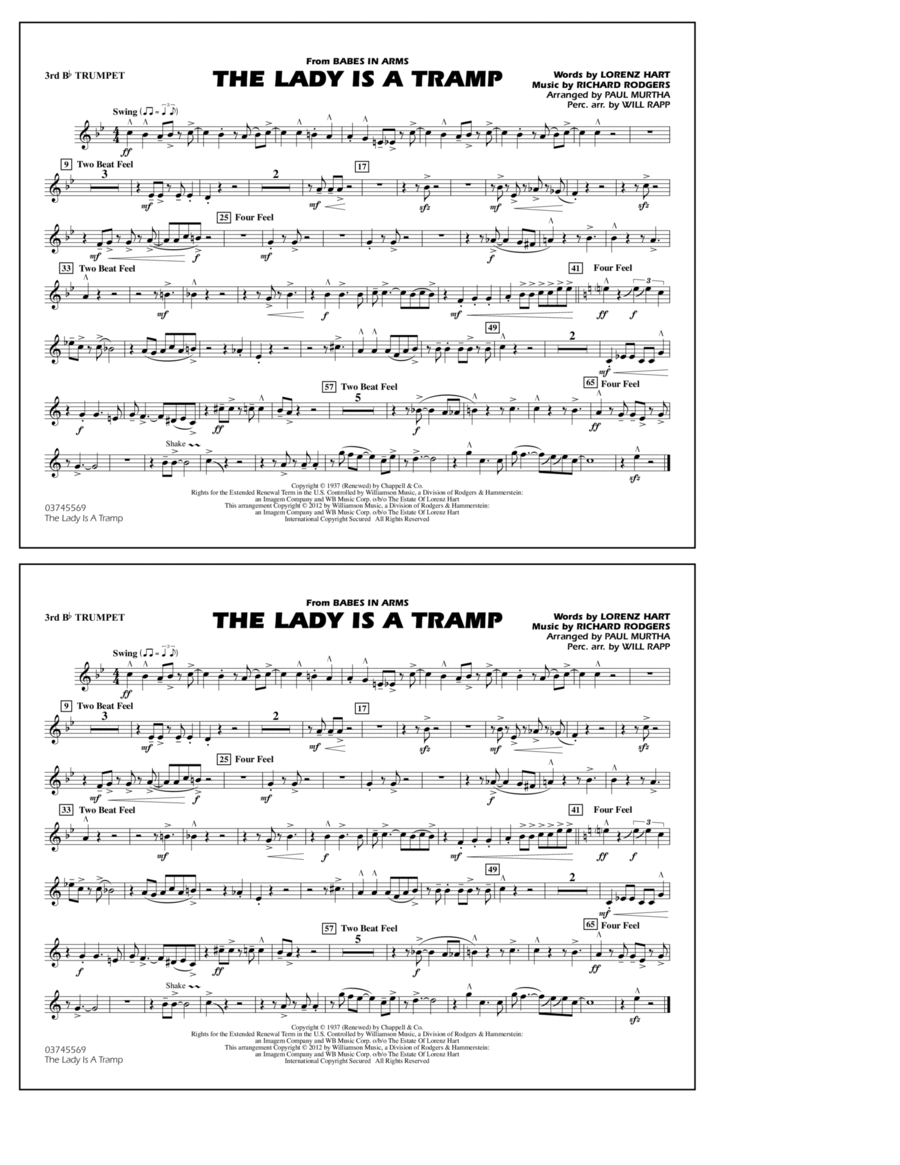 The Lady Is A Tramp - 3rd Bb Trumpet