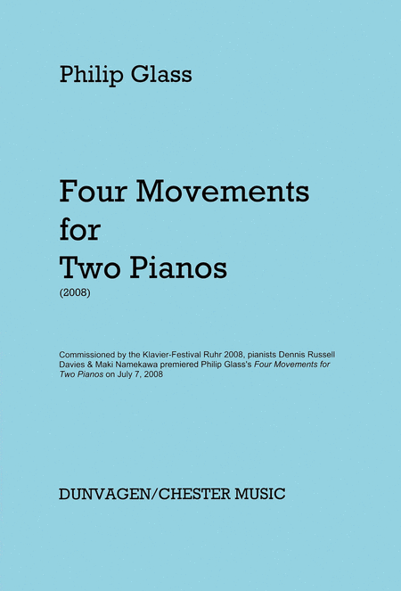 Glass - 4 Movements for Two Pianos