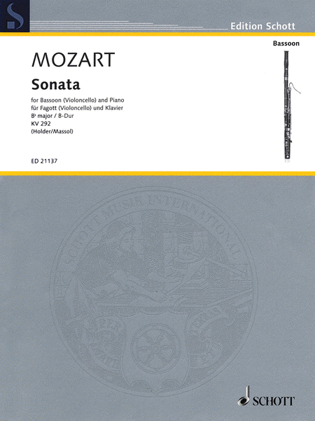 Wolfgang Amadeus Mozart - Sonata for Bassoon (Violoncello) and Piano in B-flat Major, K. 292