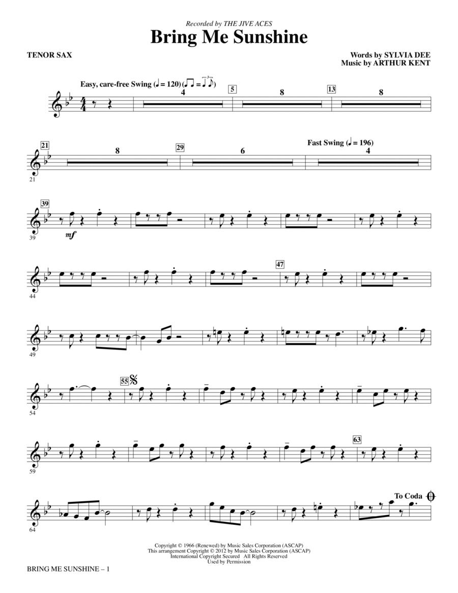 Bring Me Sunshine - Bb Tenor Saxophone