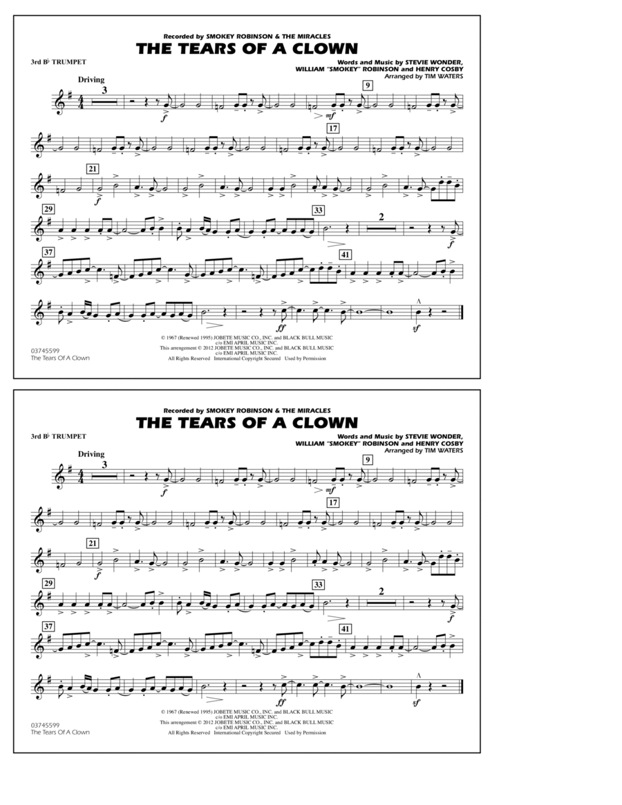 The Tears Of A Clown - 3rd Bb Trumpet
