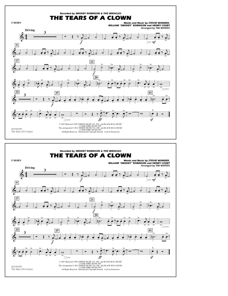 The Tears Of A Clown - F Horn