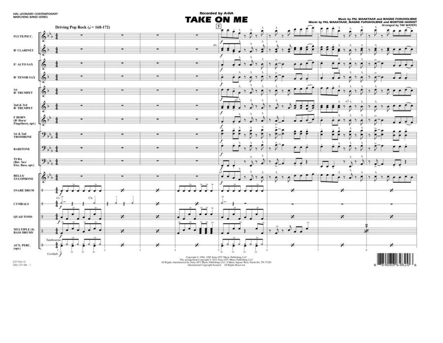 Take On Me - Full Score
