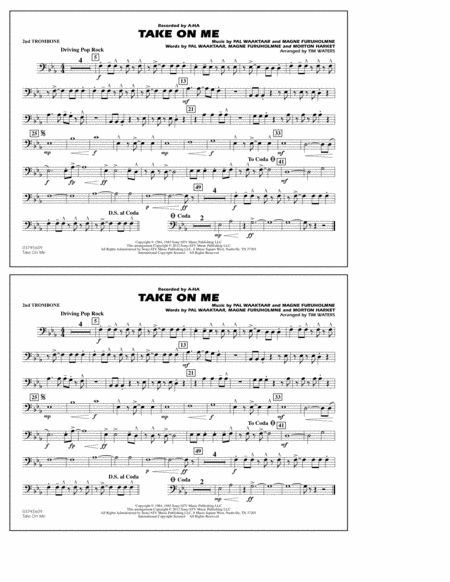 Take On Me - 2nd Trombone