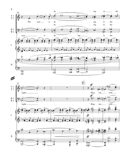 Ring Out, Wild Bells (Piano/Vocal Score)