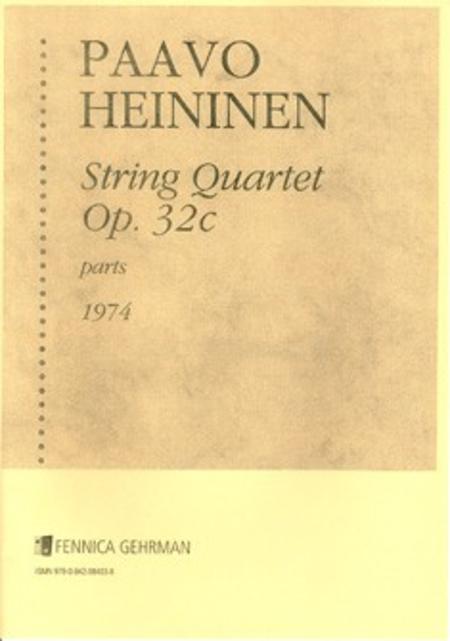 String Quartet No. 1 op 32 c (1974)