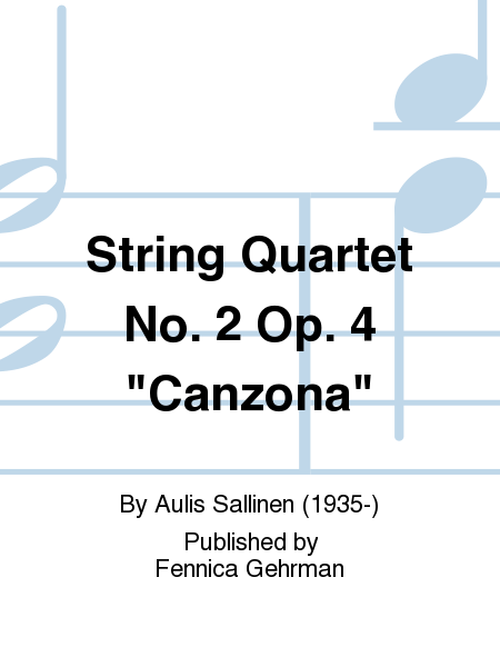 String Quartet No. 2 Op. 4