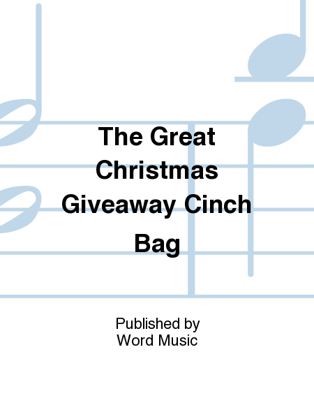 The Great Christmas Giveaway Cinch Bag