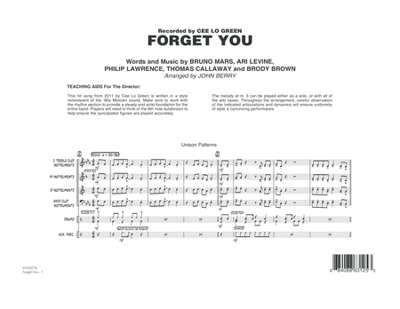 Forget You - Full Score
