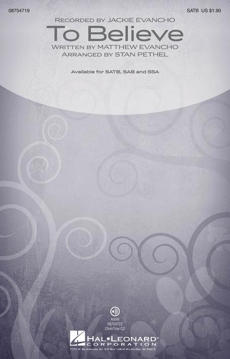 To Believe - ChoirTrax CD