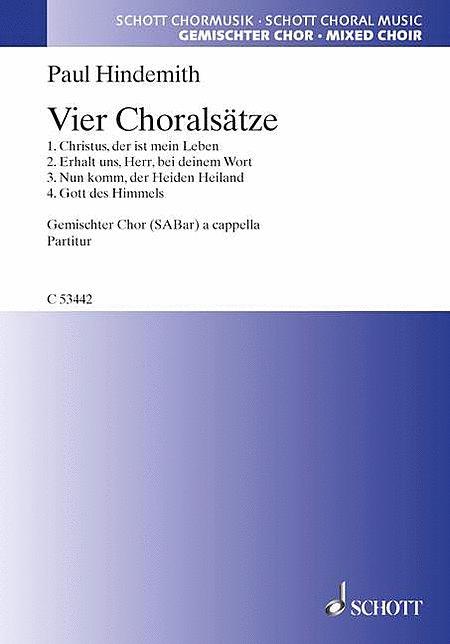 Vier Choralsatze