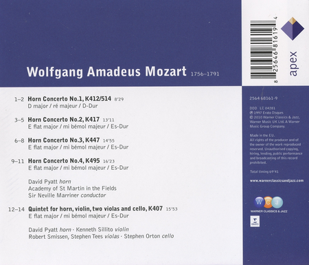 Horn Concertos/Quintet