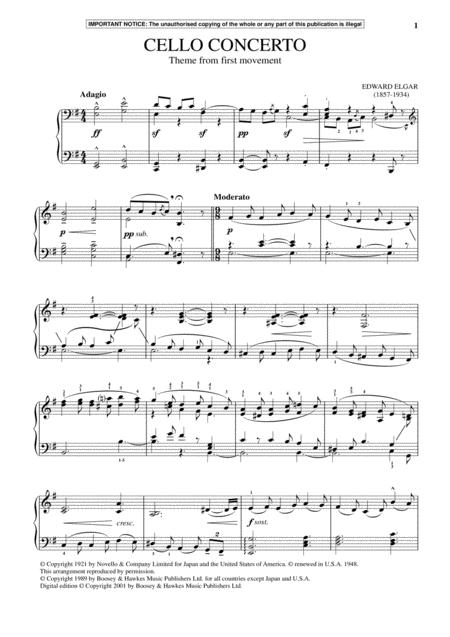 Cello Concerto In E Minor, Op. 85 (First Movement Theme)