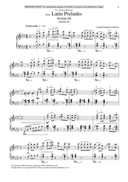 Latin Preludes, Prelude III (Samba II)