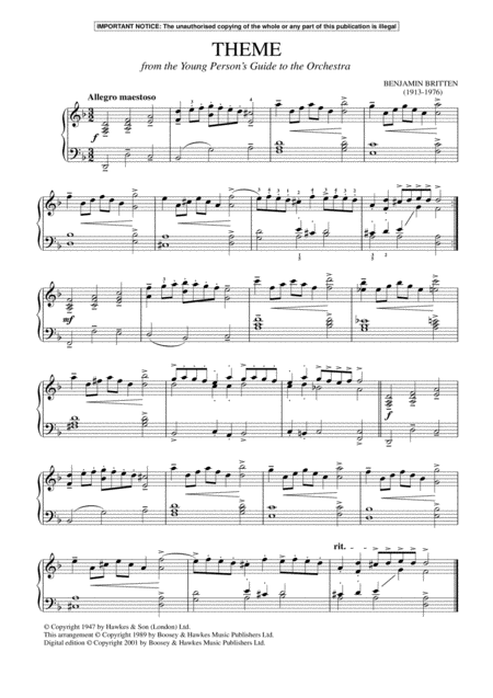 The Young Person's Guide To The Orchestra, Op. 34 (Theme)