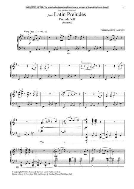 Latin Preludes, Prelude VII (Mambo)