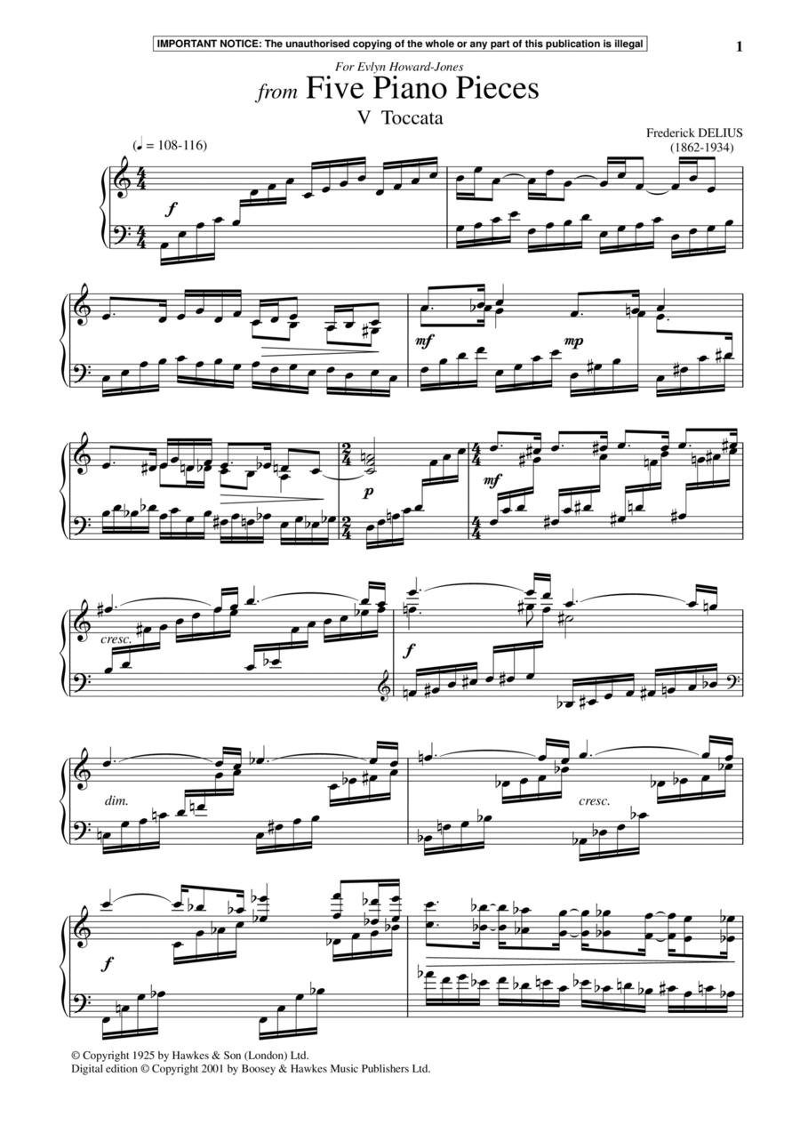 Five Piano Pieces, V. Toccata