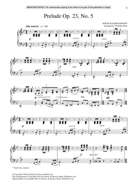 Prelude Op. 23, No. 5